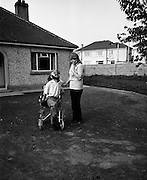 30/08/1972<br /> 08/30/1972<br /> 30 August 1972<br /> Author Christy Brown and fiancé Miss Carr at Lisheen, Stoney Park, Rathcoole Co. Dublin