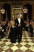 Princess Victoria-Louise de Prusse and her escort Prince Friedrich Wilhelm de Prusse. Crillon Haute Couture Ball. Crillon Hotel, Paris. 2 December 2000. © Copyright Photograph by Dafydd Jones 66 Stockwell Park Rd. London SW9 0DA Tel 020 7733 0108 www.dafjones.com