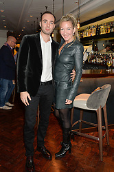 JASON BASSILI MD of Salmontini and JORI WHITE at a dinner to celebrate 20 years of Maria Grachvogel's fashion label held at Salmontini, 1 Pont Street, London on 22nd October 2014.