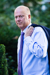 Downing Street, London, September 13th 2016. Transport Secretary Chris Grayling arrives for the weekly cabinet meeting at Downing Street.