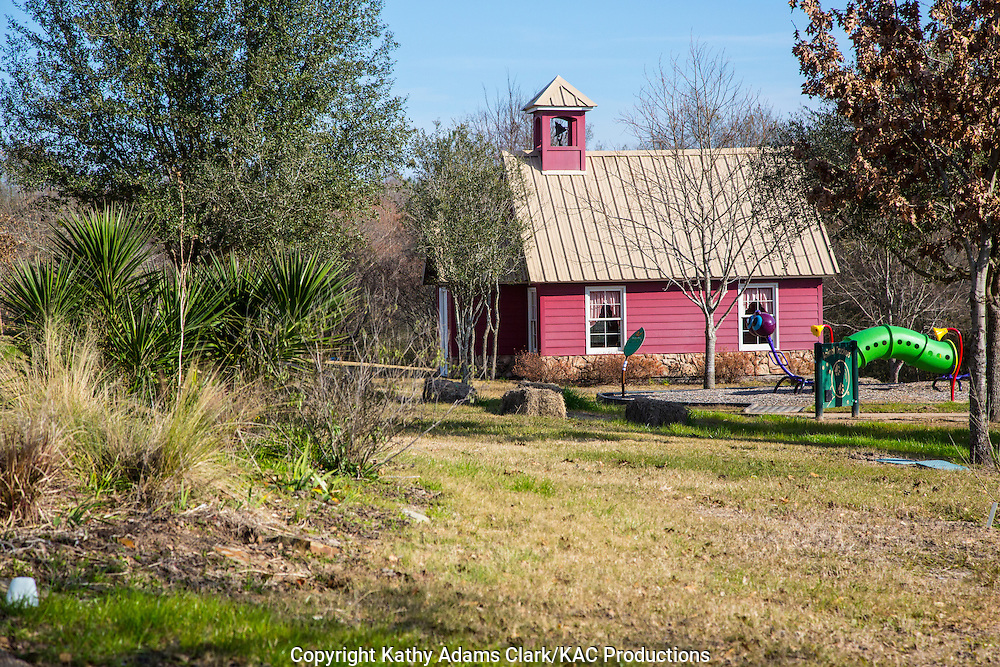 Re-creations of several historic buildings are on the grounds of East Texas Arboretum and Botanical Gardens in Athens, Texas.