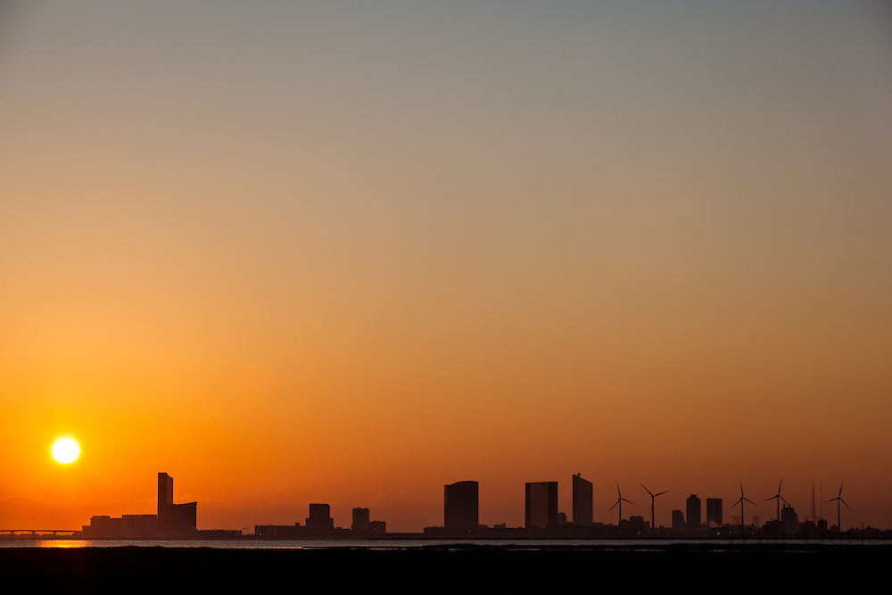 A view of Atlantic City, NJ taken from Absecon, NJ  on Thursday November 29, 2012. (photo / Mat Boyle)