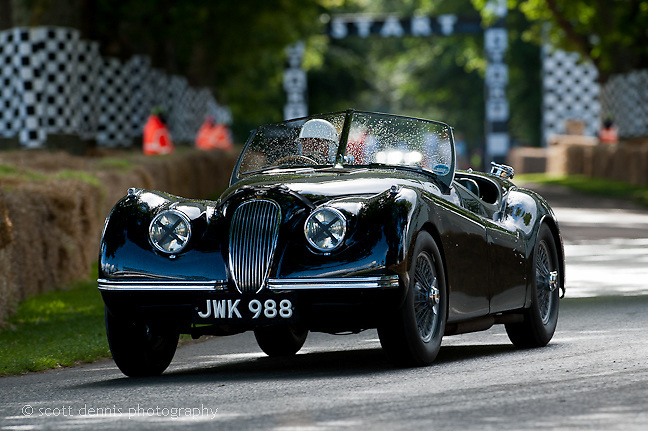 Goodwood Festival of Speed 2012 - Jaguar XK120 - Sir Stirling Moss
