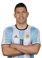 Football Conmebol_Concacaf - <br />Copa America Centenario Usa 2016 - <br />Argentina National Team - Group D -<br />Sergio Aguero