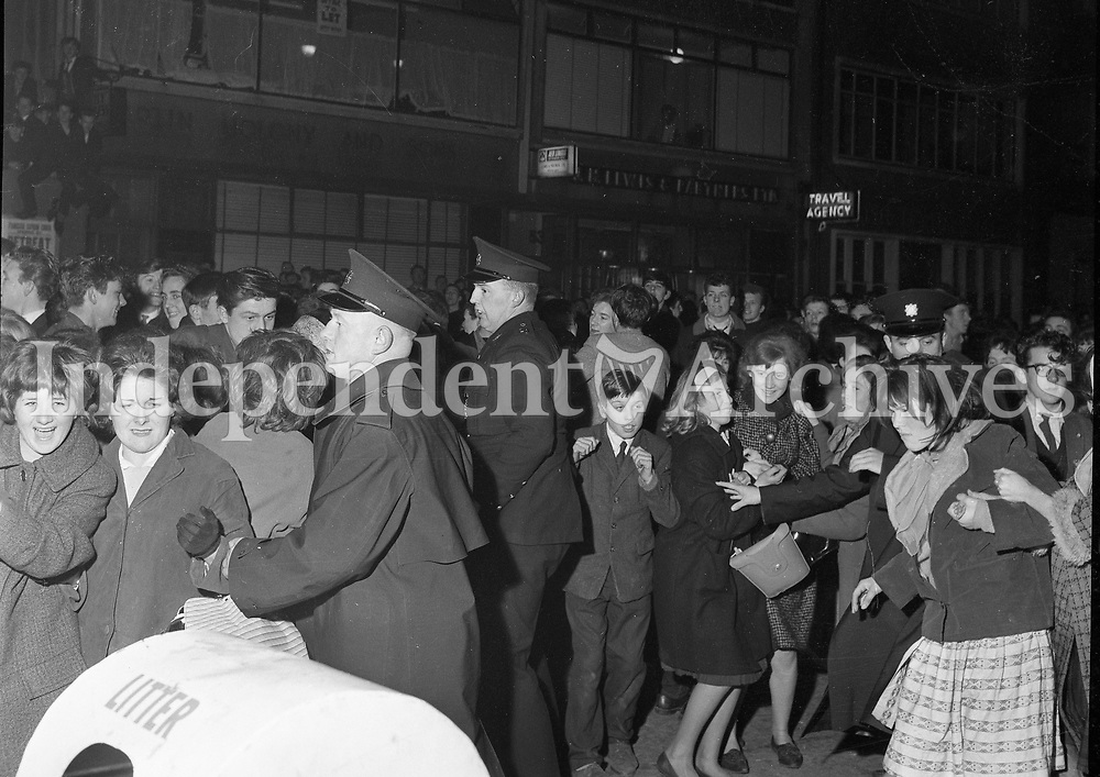 Emotions ran high outside the Adelphi Theatre Dublin, as 'Beatlemania' took hold of the crowds.<br />
