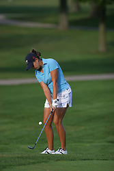 30 Aug 2005<br /> <br /> Bernadette Luse chips to the 1st green.<br /> <br /> State Farm Classic, LPGA Golf Tournament, Tuesday Practice, The Rail Golf Course, Springfield, IL
