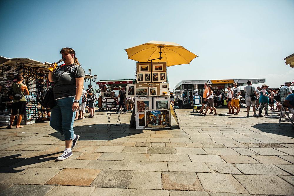 Venezia. Impatto del turismo di massa. Agosto 2014.