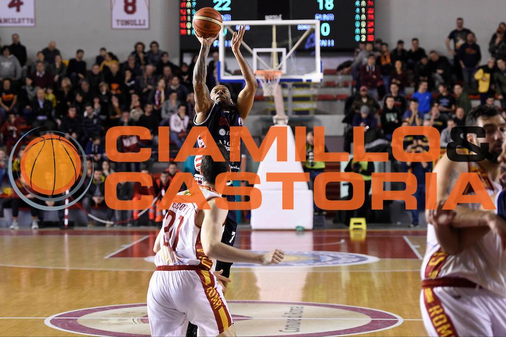 Mike Hall<br /> Unicusano Roma - Angelico Biella<br /> Campionato Basket LNP 2016/2017<br /> Roma 29/01/2017<br /> Foto Ciamillo-Castoria