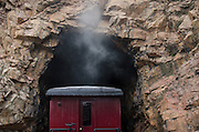 The Cumbres & Toltec passes through one of many tunnels en route to Chama, New Mexico.