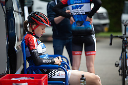 Aafke Soet of WNT Rotor Pro Cycling prepares for Stage 1 of the Festival Elsy Jacobs - a 97.7 km road race, starting and finishing in Steinfort on April 28, 2018, in Luxembourg. (Photo by Balint Hamvas/Velofocus.com)