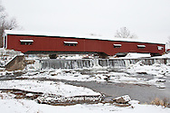 63904-03313 Bridgeton Covered Bridge in winter at Bridgeton, IN