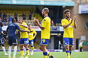 Leeds United players thank the fans after the Pre-Season Friendly match between Southend United and Leeds United at Roots Hall, Southend, England on 22 July 2018. Picture by Stephen Wright.