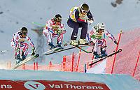 Freestyle<br /> FIS World Cup<br /> Foto: Gepa/Digitalsport<br /> NORWAY ONLY<br /> <br /> VAL THORENS,FRANCE,12.DEC.15 - FREESTYLE SKIING - FIS World Cup, Ski Cross, men. Image shows Terence Tchiknavorian (FRA), Jean Frederic Chapuis (FRA), Magnus Bjørnnes (NOR) and Arnaud Bovolenta (FRA).