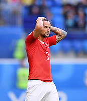 FUSSBALL  WM 2018  Achtelfinale  03.07.2018 Schweden - Schweiz Haris Seferovic (Schweiz) enttaeuscht