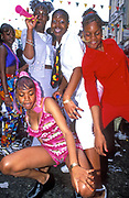 Girls dancing at Notting Hill Carnival, 1998.
