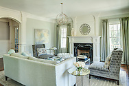 Westchester home, living room. Designed by Michele Green Design.