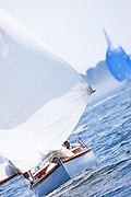 Osprey, S Class, sailing in the Robert H. Tiedemann Classic Yachting Weekend race 1.