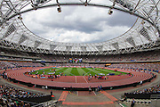 The Olympic Park Stadium during the Sainsbury's Anniversary Games at the Queen Elizabeth II Olympic Park, London, United Kingdom on 25 July 2015. Photo by Phil Duncan.