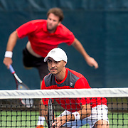 August 21, 2016, New Haven, Connecticut: <br /> Thiago Santos and Victor-Carvano Velo in action during a US Open National Playoffs match at the 2016 Connecticut Open at the Yale University Tennis Center on Sunday, August  21, 2016 in New Haven, Connecticut. <br /> (Photo by Billie Weiss/Connecticut Open)