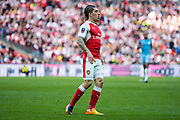 Arsenal defender Hector Bellerin (24) during the The FA Cup semi final match between Arsenal and Manchester City at the Emirates Stadium, London, England on 23 April 2017. Photo by Sebastian Frej.