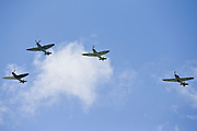 Battle of Britain Flypast in Seaford East Sussex on 15 September 2015