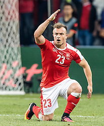 19.06.2016, Stade Pierre Mauroy, Lille, FRA, UEFA Euro, Frankreich, Schweiz vs Frankreich, Gruppe A, im Bild Xherdan Shaqiri (SUI) // Xherdan Shaqiri (SUI) during Group A match between Switzerland and France of the UEFA EURO 2016 France at the Stade Pierre Mauroy in Lille, France on 2016/06/19. EXPA Pictures © 2016, PhotoCredit: EXPA/ JFK