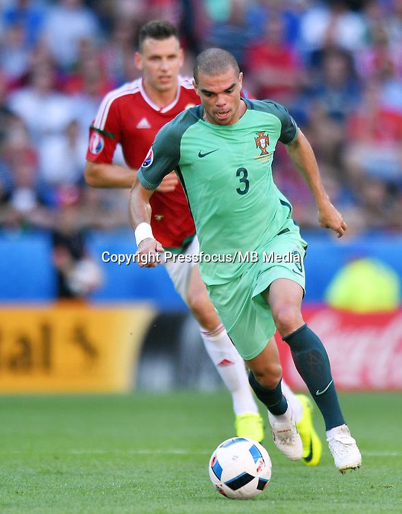 2016.06.22<br /> Football UEFA Euro 2016 group F game between Hungary and Portugal<br /> Pepe<br /> Credit: Lukasz Laskowski / PressFocus