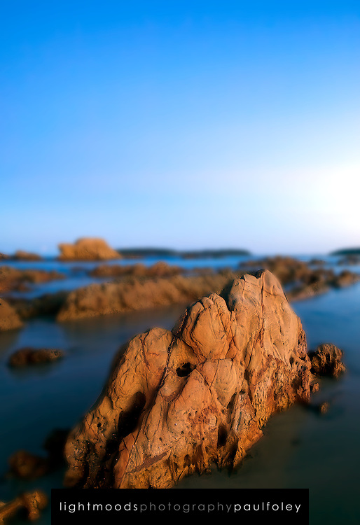 Rocky shoreline, Mossy Point, NSW, Australia