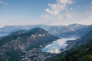 View over the Boka Bay and Kotor, Montenegro