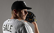 GLENDALE, ARIZONA - FEBRUARY 27:  Chris Sale of the Chicago White Sox poses for a portrait during White Sox photo day on February 27, 2015 at Camelback Ranch in Glendale Arizona.  (Photo by Ron Vesely)