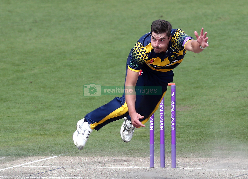 Glamorgan's Marchant de Lange bowls during the Royal London One Day Cup at the 1st Central County Ground, Hove.