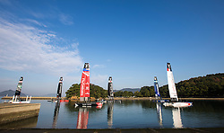 Louis Vuitton America's Cup Worlds Series event in Fukuoka. Thursday the 17th of November 2016, Fukuoka, Japan