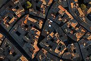 France, Languedoc Roussillon, Hérault, Montpellier, centre historique, l'Ecusson, vue aérienne