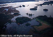 Aerial of Pymatuning Reservoir (Lake), Crawford County, PA