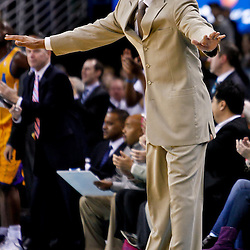 December 10, 2010; New Orleans, LA, USA; New Orleans Hornets head coach Monty Williams during the first half against the Oklahoma City Thunder at the New Orleans Arena.  Mandatory Credit: Derick E. Hingle-US PRESSWIRE