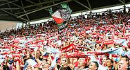 16-08-2017: Voetbal: FC Utrecht v Zenit Sint Petersburg: Utrecht<br /> <br /> (L-R) Supporters van FC Utrecht tijdens duel in voorronde Europa League tussen FC Utrecht en FK Zenit St Petersburg op 16 augustus in stadion Galgenwaard in Utrecht<br /> <br /> Voorronde Europa League (UEFA) - Seizoen 2017 / 2018<br /> <br /> Foto: Gertjan Kooij
