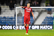 Dael Fry (6) of Middlesbrough during the EFL Sky Bet Championship match between Queens Park Rangers and Middlesbrough at the Kiyan Prince Foundation Stadium, London, England on 9 November 2019.