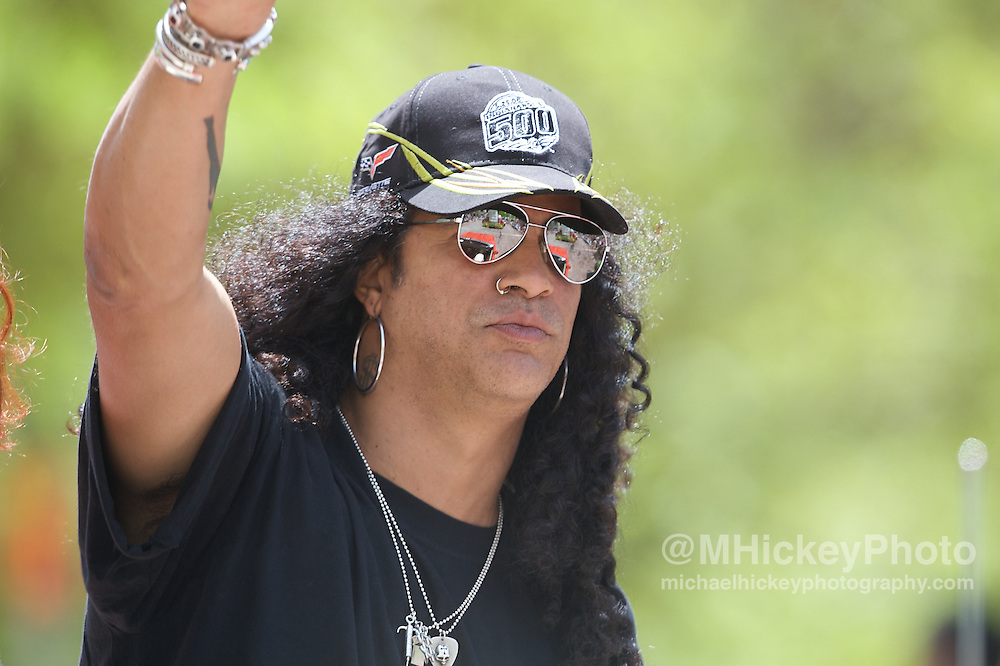 Guitarist Slash seen at the Indy 500 Festival Parade on May 25, 2008. Photo by Michael Hickey