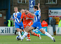 Photo: Tom Dulat/Sportsbeat Images.<br /> <br /> Colchester United v Blackpool. The FA Barclays Premiership. 29/12/2007. <br /> <br /> Gary Taylor Fletcher of Blackpool and Kevin McLeod of Colchester United with the ball.