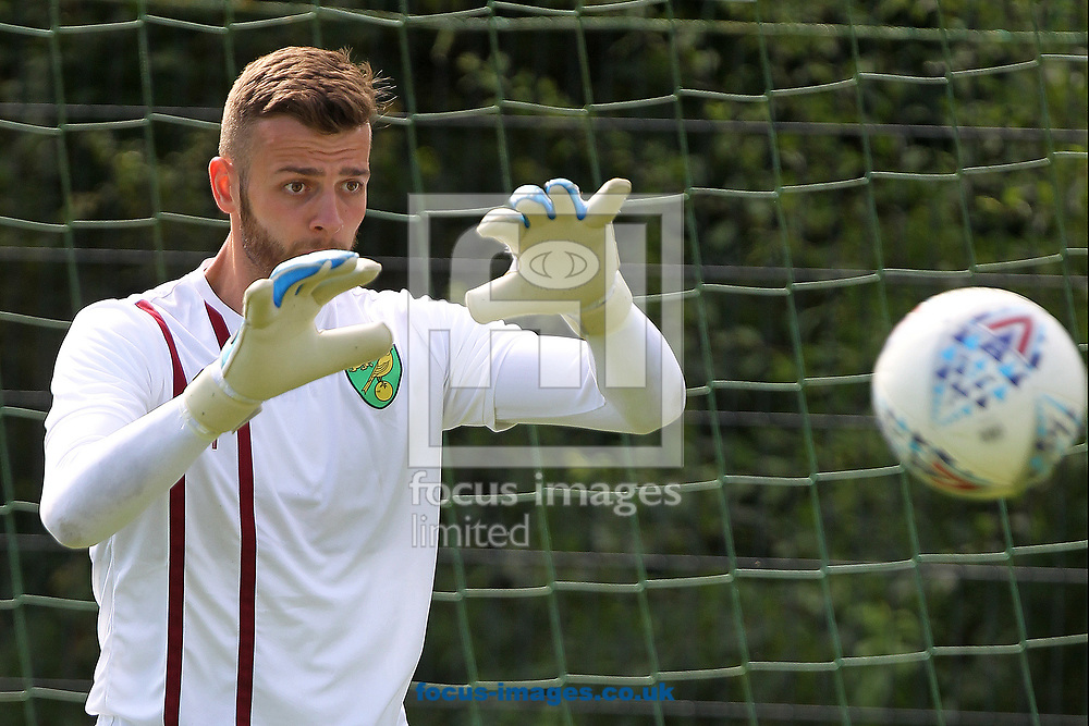Angus Gunn of Norwich during the Norwich City Pre-Season Training session at Hotel Klosterpforte, Harsewinkel, Germany<br /> Picture by Paul Chesterton/Focus Images Ltd +44 7904 640267<br /> 18/07/2017