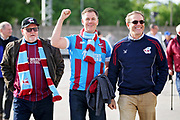 Scunthorpe fans arrive at the stadium before the EFL Sky Bet League 1 play off second leg match between Rotherham United and Scunthorpe United at the AESSEAL New York Stadium, Rotherham, England on 16 May 2018. Picture by Nigel Cole.