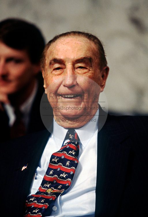 U.S. Senator Strom Thurmond during hearings June 20, 1996 in Washington, DC.