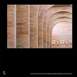 Museo Nacional de Arte Romano en Mérida (Badajoz).<br /> Arquitecto Rafael Moneo.