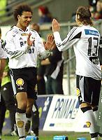 Fotball Tipeligaen Rosenborg ( RBK ) - Odd Grenland 6-0<br /> En målscorer ut - en målscorer inn - Daniel Braathen og Alexander Ødegård<br /> Foto: Carl-Erik Eriksson, Digitalsport