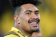 Hurricanes' Ardie Savea is all smiles following the Hurricanes victory during the Investec Super Rugby Semi-Final match, Hurricanes v Chiefs at Westpac Stadium, Wellington, New Zealand. 30th July 2016. © Copyright Photo: Grant Down / www.photosport.nz
