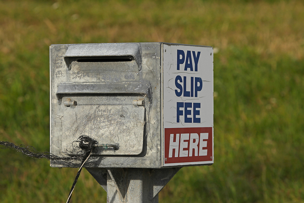 Slip fee payment box, Wainui, New Zealand, Friday, 15 January, 2016.  Credit: SNPA / Pam Carmichael