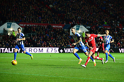 Lee Tomlin of Bristol City takes a shot at goal - Mandatory by-line: Dougie Allward/JMP - 05/11/2016 - FOOTBALL - Ashton Gate - Bristol, England - Bristol City v Brighton and Hove Albion - Sky Bet Championship