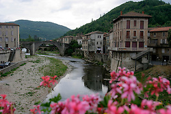 FRANCE ST AFFRIQUE 22AUG05 - General view of the Pyreneen town of Saint Affrique with the river Sorgues running through its centre...jre/Photo by Jiri Rezac..© Jiri Rezac 2005..Contact: +44 (0) 7050 110 417.Mobile:  +44 (0) 7801 337 683.Office:  +44 (0) 20 8968 9635..Email:   jiri@jirirezac.com.Web:     www.jirirezac.com..© All images Jiri Rezac 2005 - All rights reserved.