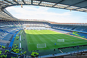 General view of BT Murrayfield Stadium, Edinburgh, Scotland before the Betfred League Cup semi-final match between Heart of Midlothian FC and Celtic FC on 28 October 2018.