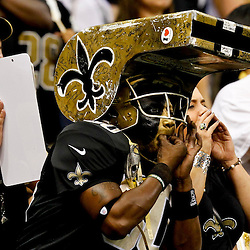 September 23, 2012; New Orleans, LA, USA; New Orleans Saints fan Leroy Mitchell known as 'Whistle Monster' in the stands during the second half of a game against the Kansas City Chiefs at the Mercedes-Benz Superdome. The Chiefs defeated the Saints 27-24 in overtime. Mandatory Credit: Derick E. Hingle-US PRESSWIRE